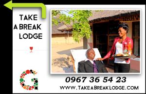 Sign Take a Break Lodge
