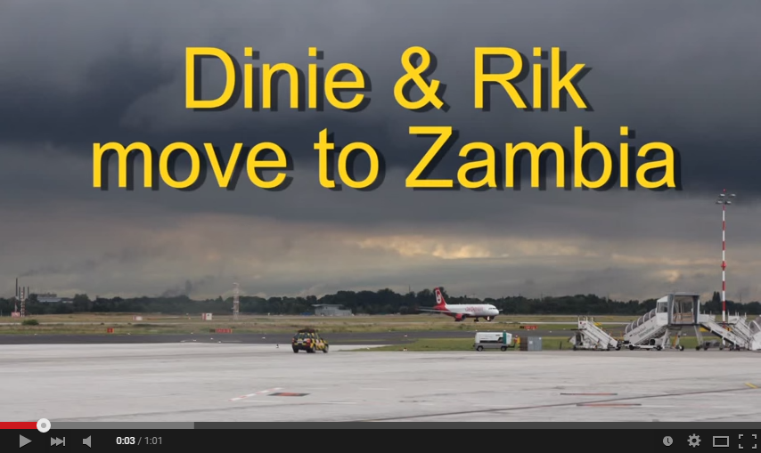 Movie Dinie and Rik traveling to Zambia