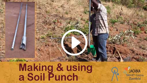 Online training Making and using a soil opunch