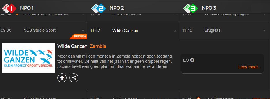 Jacana on Dutch national Television