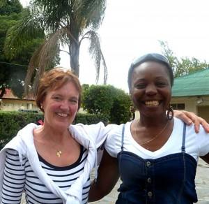 Jeannette Biesbroeck and Ireen Mutwale both wedding planners
