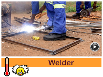 Welders Joseph and Jona Zulu