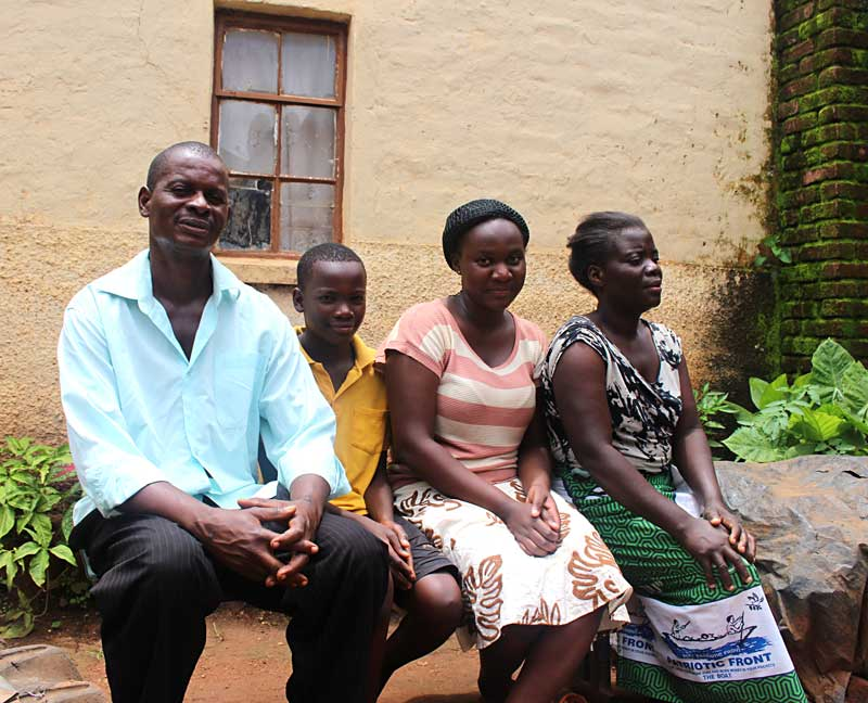 Moses Mawele's family