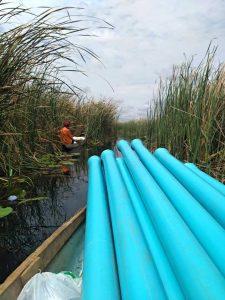 Drilling set transport per canoo