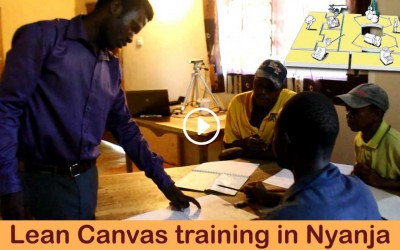 First Lean Canvas Business training in Nyanja