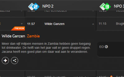 Jacana on Dutch national TV