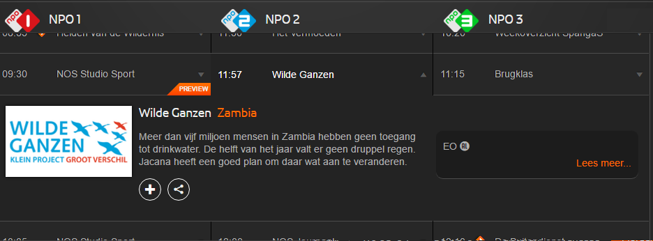 Jacana on Dutch national Television