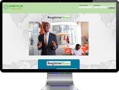 Care Plus Zambia web-site