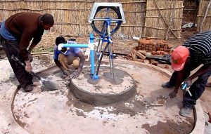 Installing first rope pump in Chipata