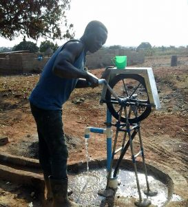 First Self-supply pump & borehole sold by Joseph for Brighton Chilwa