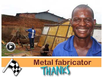 041 Metal fabricator and driller, Moses Mawele