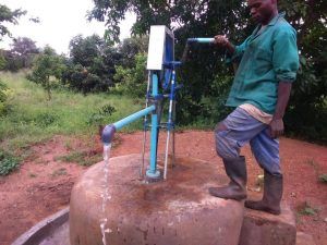 Pump on well for Tabhita Mbewe