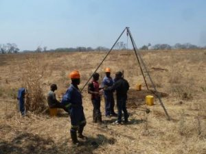 Drilling at Zulu's farm