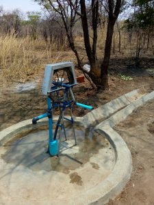 Pump installed at Frank Sakala's farm