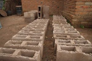 First Cement blocks from Thomas Phiri