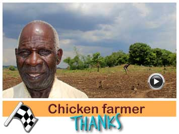 075 Chicken farmer, Stephen Tembo