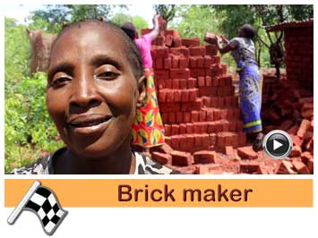 074 Brick maker, Royce Banda