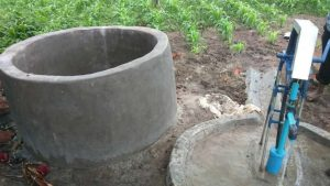 Water tank made by Reuben Chulu
