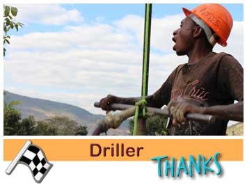 107 Manual driller, Moses Ngoma