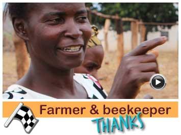 Farmer and beekeeper, Martha Banda