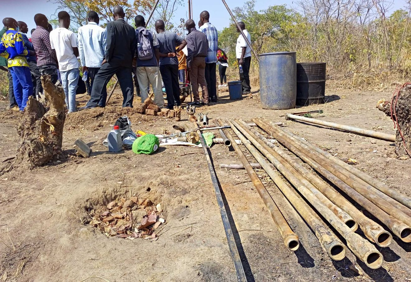Visit at Chipata drilling site