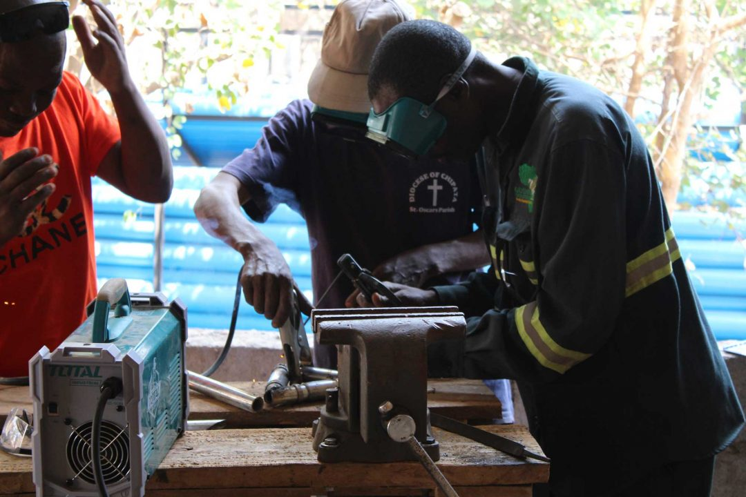 Welder training (new Jacana SMART Centre in Petauke)