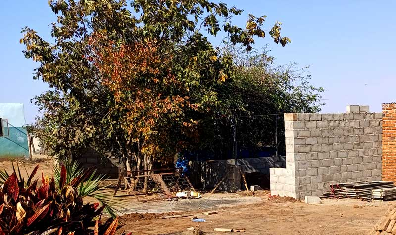 Workshop being build